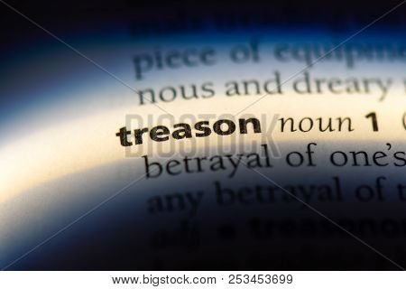 Treason Word In A Dictionary. Treason Concept.