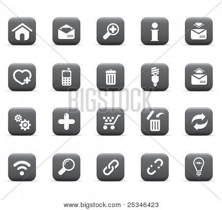 Glossy icons, web