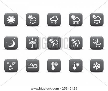 Glossy icons, weather