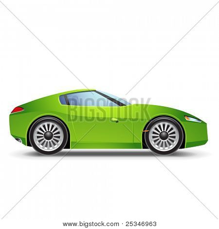 Green  Sport car icon