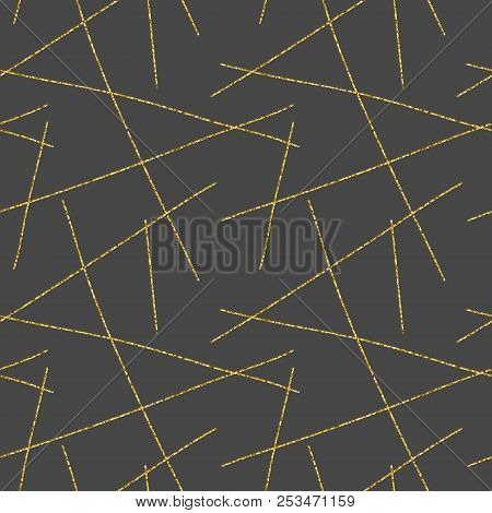 Vector Hand Drawn Abstract Seamless Pattern. Minimal Repeating Background. Hipster Minimalistic Seam