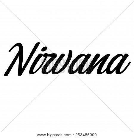 Nirvana Label On White Background Sign, Label, Sticker
