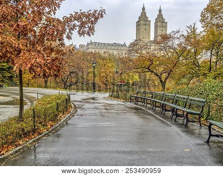 Central Park, New York City  In Autumn With Fall Foliage