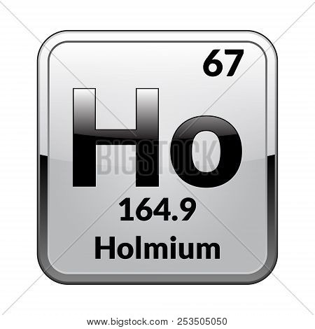 Holmium Symbol Vector Photo Free Trial Bigstock