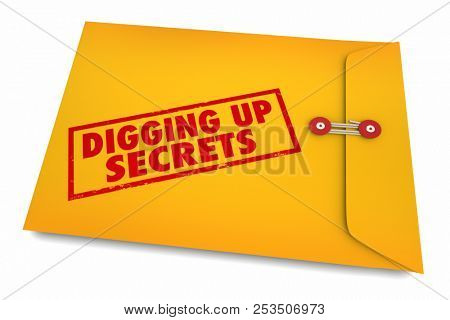 Digging Up Secrets Investigate Find Clues 3d Illustration
