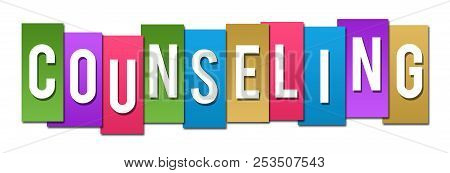 Counseling Text Written Over Colorful Horizontal Background.