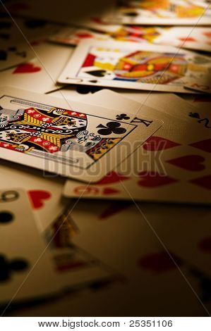 Dramatic Cards on Table
