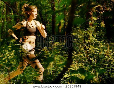 Woman trail runner, from a complete series of photos.