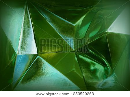 Natural Textured Background - Green Glass Close-up