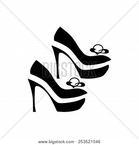 Women Dressy Shoes Icon In Simple Style Isolated On White Background. Wear Symbol Illustration
