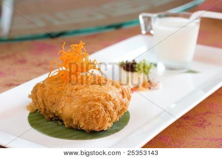 Deep Fried Battered Durian Cream Cake