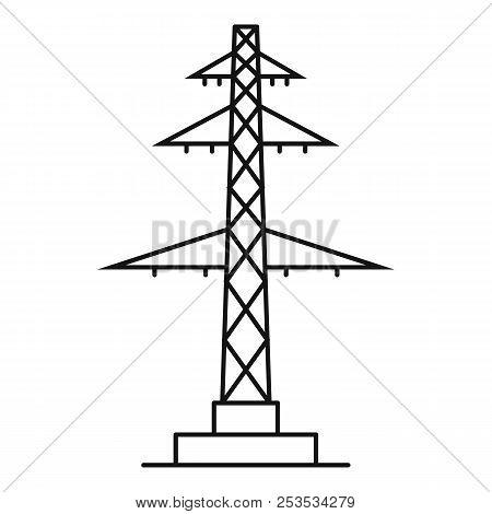 Telephone Pole Icon. Outline Illustration Of Telephone Pole  Icon For Web