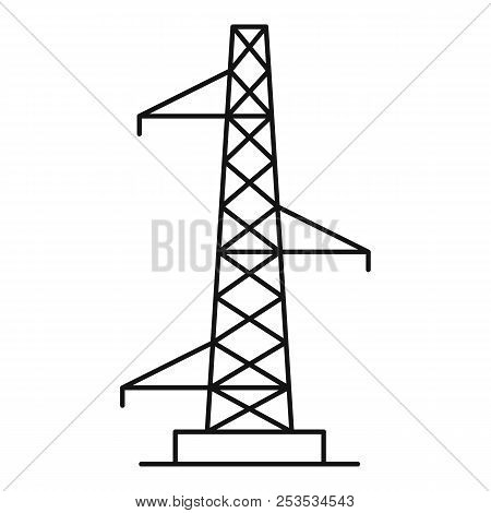 Voltage Pole Icon. Outline Illustration Of Voltage Pole  Icon For Web
