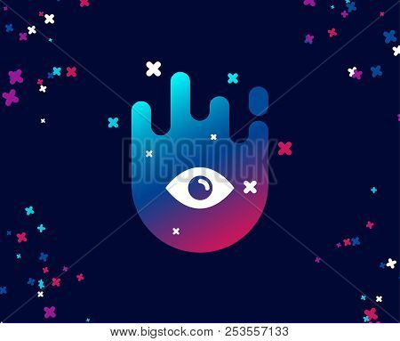 Eye Simple Icon. Look Or Optical Vision Sign. View Or Watch Symbol. Cool Banner With Icon. Abstract