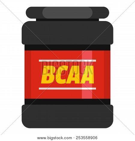 Bcaa Icon. Flat Illustration Of Bcaa  Icon For Web.