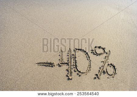 Inscription On The Sand Minus 40 Percent, -40 %