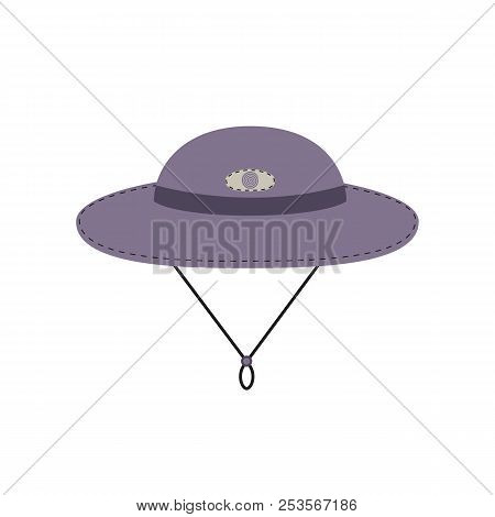 Tourist Trip Icon. Cap For Travel Wear. Minimal Style. Sunhat For Trip Logo Template. Outdoor Sport,