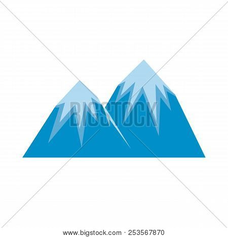 Snow Peak Icon. Flat Illustration Of Snow Peak  Icon Isolated On White Background