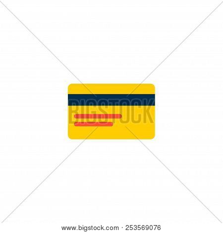 Bank Card Icon Flat Element. Vector Illustration Of Bank Card Icon Flat Isolated On Clean Background