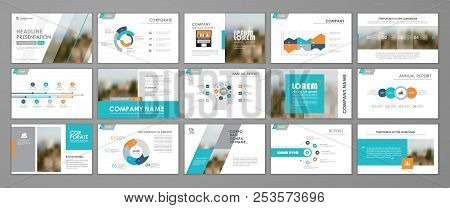 Modern Presentation Slide Templates. Infographic Elements Template  Set For Web, Print, Annual Repor