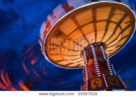 Chairoplane At The Oktoberfest