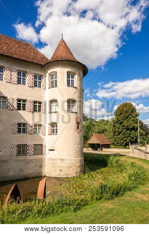 An image of the beautiful water castle at Glatt Germany