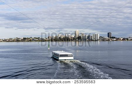 The Ferry Crossing The Swan River  From Elizabeth Quay Going  To  South Perth Western Australia