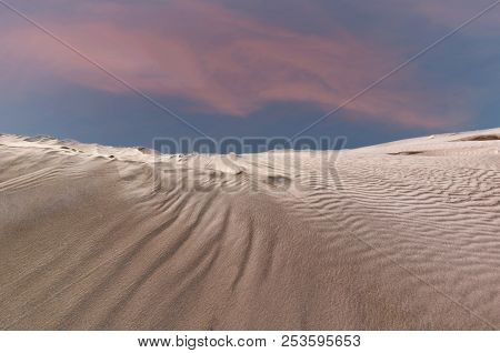 The Lancelin Sand Dunes In Western Australia.