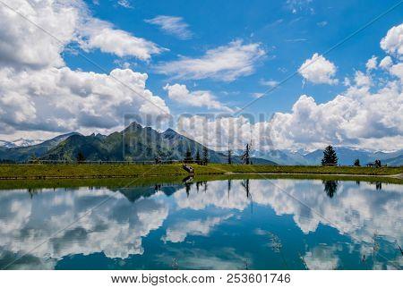austria, salzburgerland, grossarl, spiegelsee