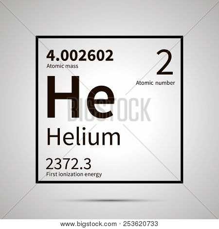 Helium Chemical Vector Photo Free Trial Bigstock