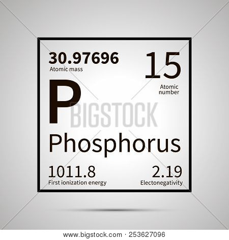Phosphorus Chemical Element With First Ionization Energy, Atomic Mass And Electronegativity Values ,