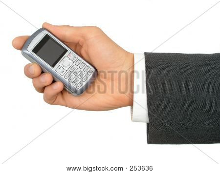 Hands Holding A Cell Phone