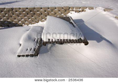 Snowy Picnic Bench