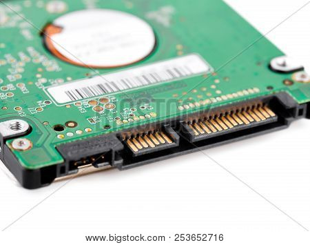 Hard Drive Isolated On White Background. Hdd. Major Components Of A 3.5-inch Sata Hard Disk Drive: P