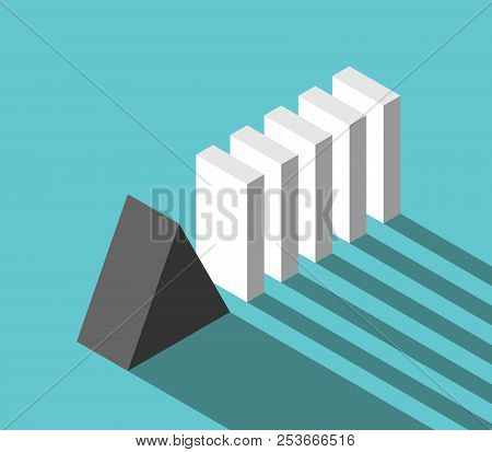Isometric Stable Reliable Triangular Prism Stopping Potential Crisis And Domino Effect. Security, Ri