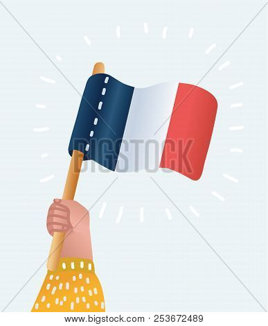 Vector Cartoon Illustration Of France Vector Greeting Card, Illustration For French National Day Wit