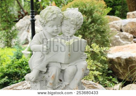 Decorative Statue Is Beauty In The Garden