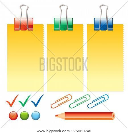 office supplies on white background vector illustration