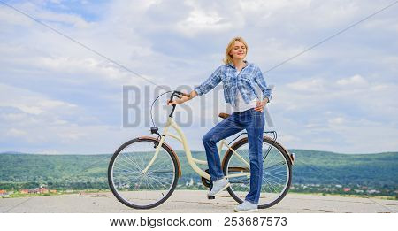 Benefits Of Cycling Every Day. Girl Ride Cruiser Bicycle. Health Benefits Of Cycling. Reasons To Rid