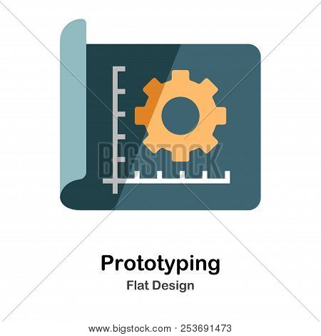 Prototyping Icon In Flat Color Design Vector Illustration