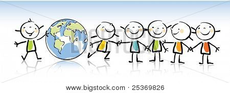 Happy Kids Holding Vector Photo Free Trial Bigstock