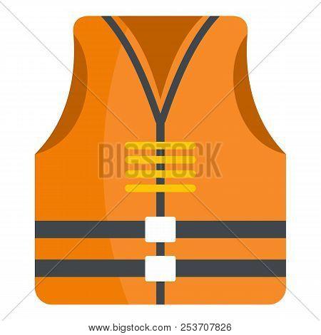 Rescue Vest Icon. Flat Illustration Of Rescue Vest Icon For Web