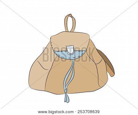 Backpack Color  Vector, White Background, Backpack Lines