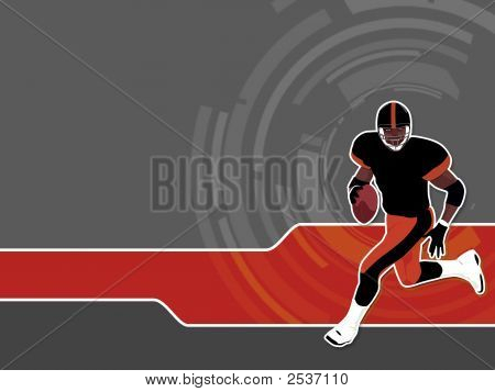 American Football runing man (wallpaper background logo...) poster