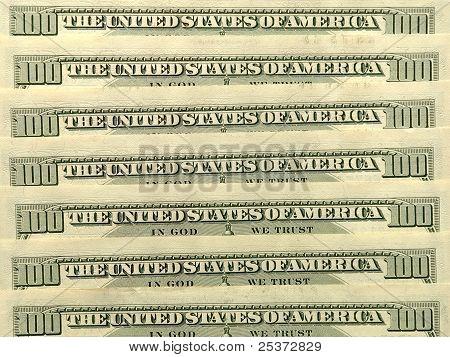Usa Dollar Banknotes.