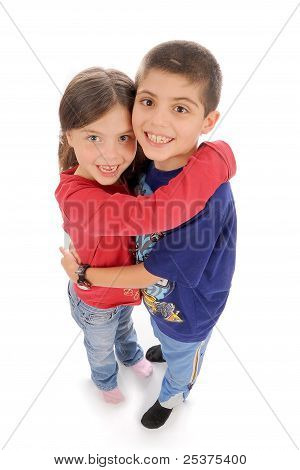 Cute brother and sister
