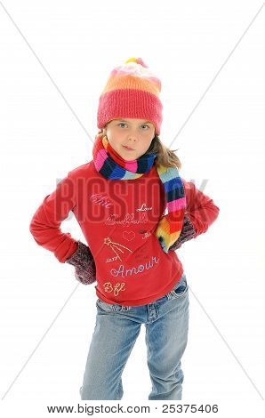 Cute little winter girl