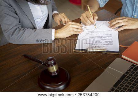 Judge Gavel, Make An Agreement, Make A Contract