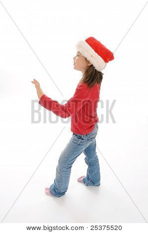Cute little christmas girl