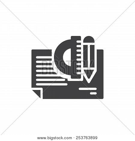 Architectural Project Vector Icon. Filled Flat Sign For Mobile Concept And Web Design. Simple Solid